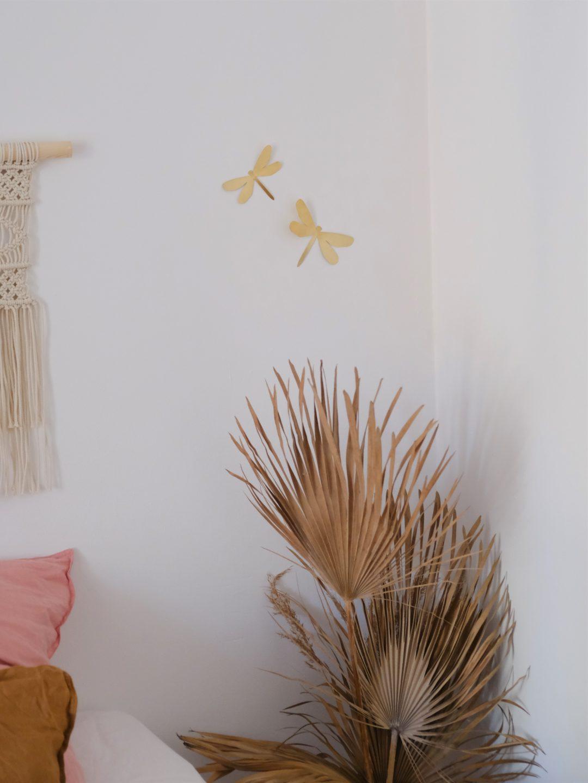 libellule murale en laiton