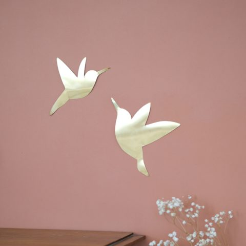 décoration en laiton colibris