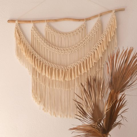 grand macrame mural kinfolk