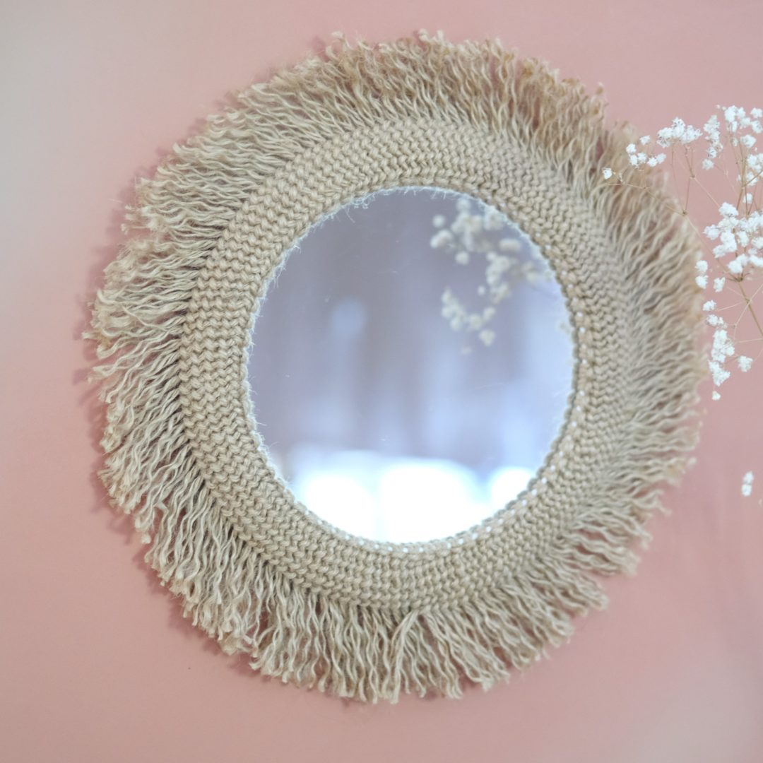 miroir ethnique macrame